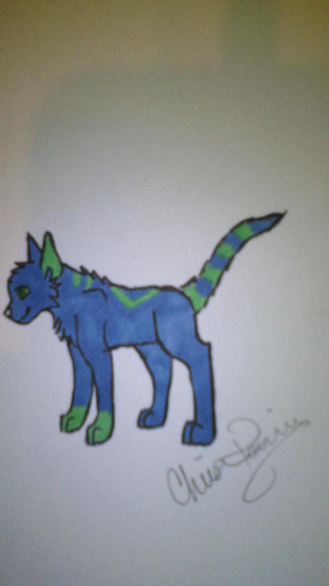 sharpie sketch by Wolf--Prime