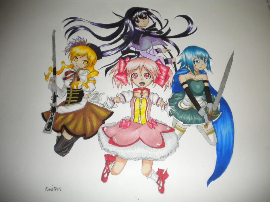 Puella Magi Madoka Magica Characters By Shanasonozaki On Deviantart