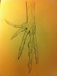 bird skelenton hand by bl1zzardst0rm