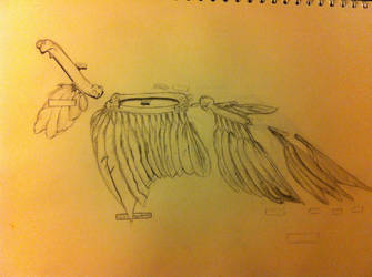 bird wing drawing by bl1zzardst0rm