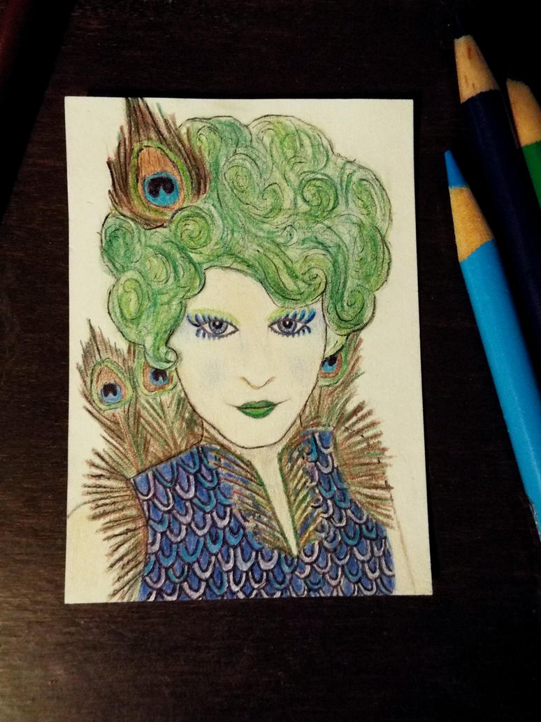 #1 ACEO for Dustywallpaper: Effie Trinket by Starfish2o