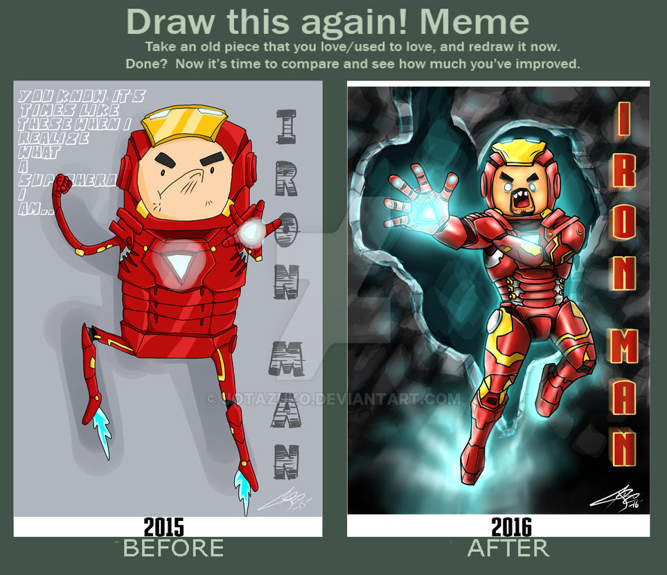 DRAW THIS AGAIN!! MEME-- IRON MAN-- by JOTAZUKO