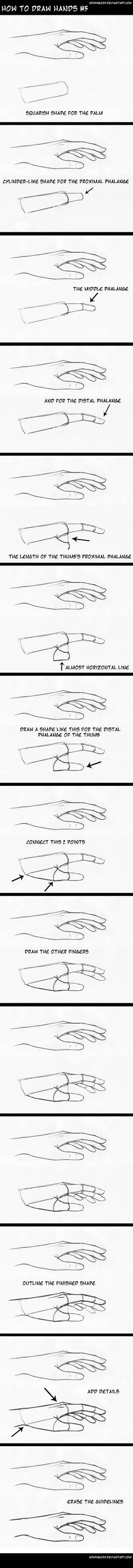 how to draw hands5