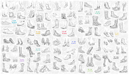 100 shoes challenge by nominee84
