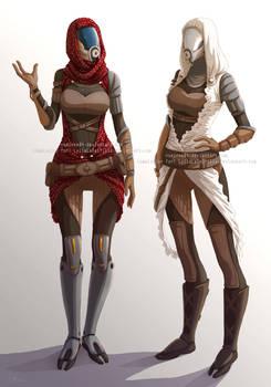 Quarian sisters