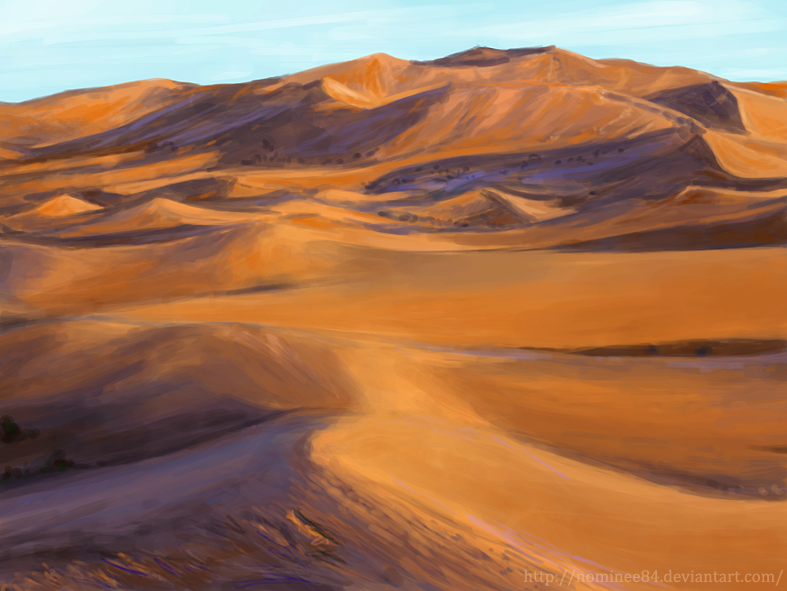 Speed paint study - landscape by nominee84