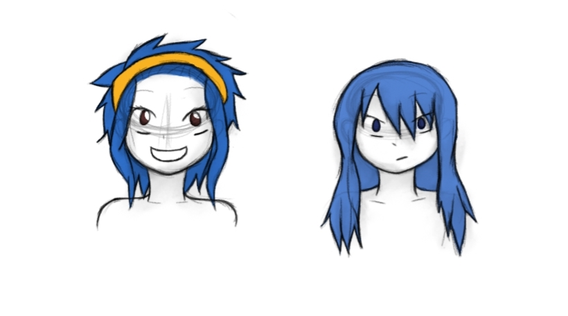 Levy and Juvia by birdie1188