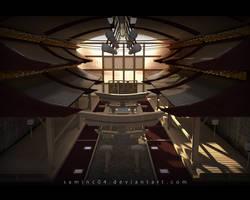 Futuristic Oriental Temple by SamInc04