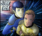 Kirk and Spock of Star Trek
