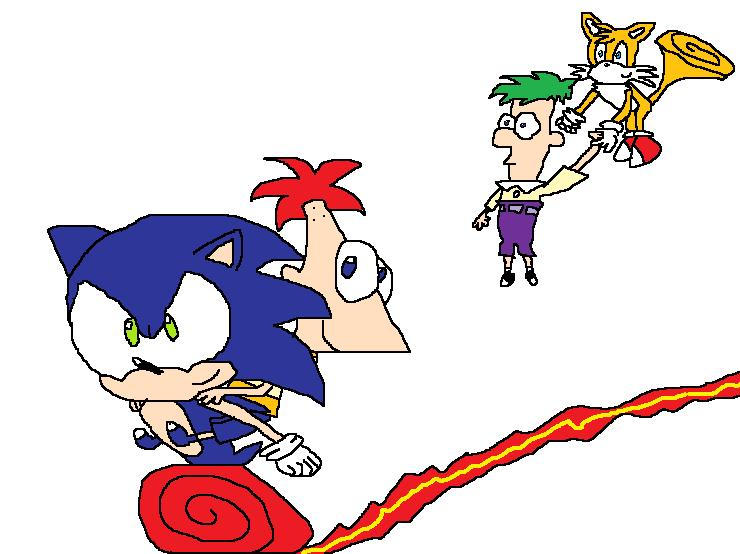 Sonic, Tails, Phineas, and Ferb by LeaderInBlue84 on DeviantArt
