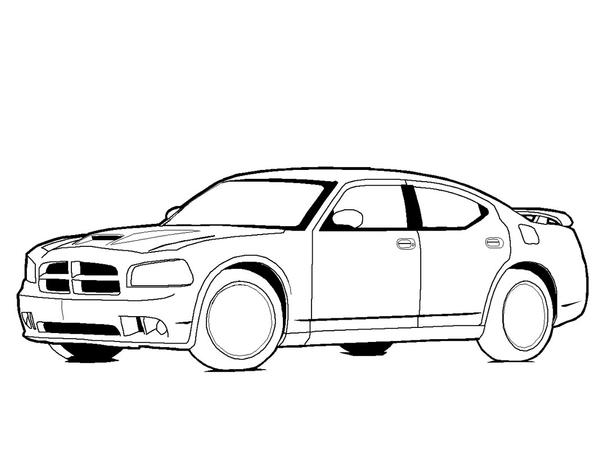 how to draw a dodge charger car pictures