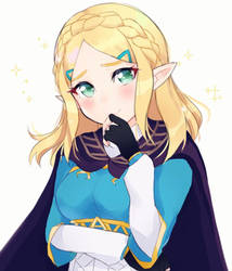 Short-Haired Zelda from Breath of the Wild by Sweetie-Cyanide
