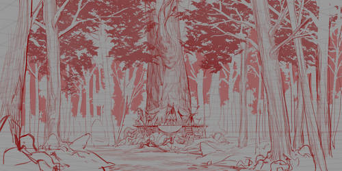 Sketch 47# (Forest-Linework) by Marlon-Duarte