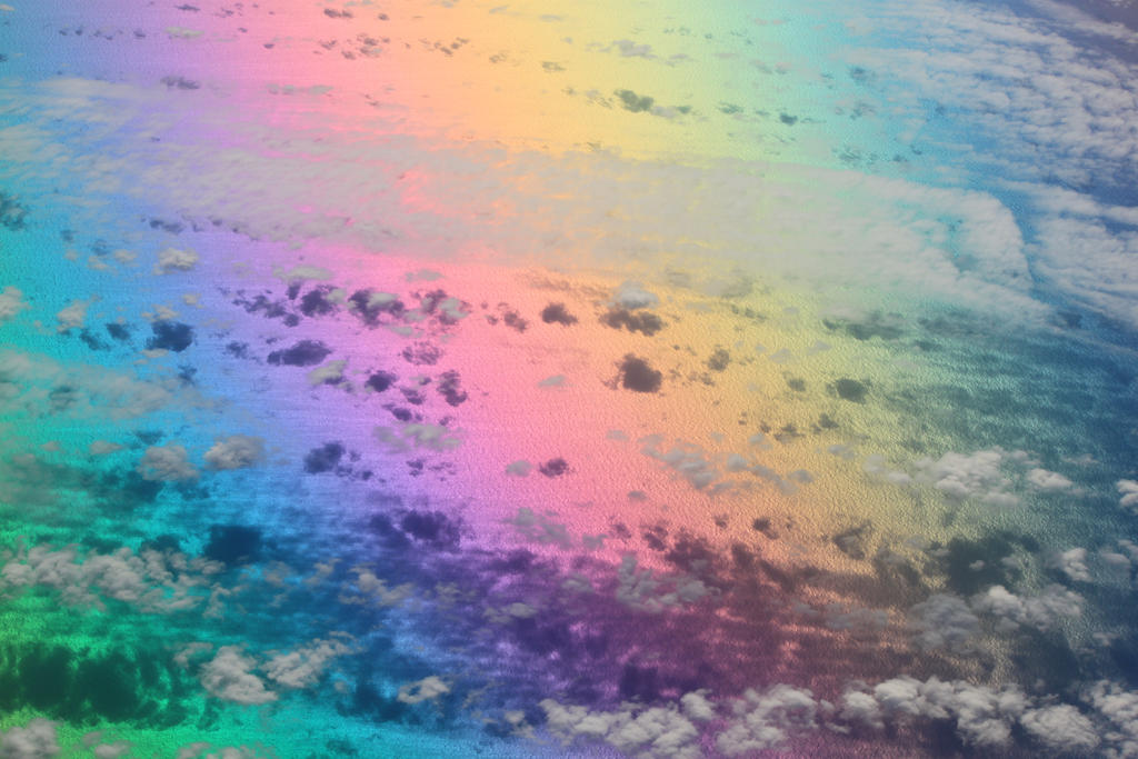 قوس القزح يغازل سطح المكتب/ Rainbow Flirts Desktop above_the_clouds_on_
