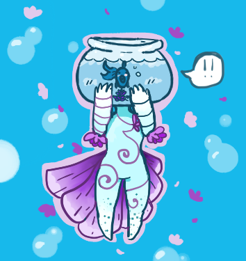 Fish and Flower by gh0stbun