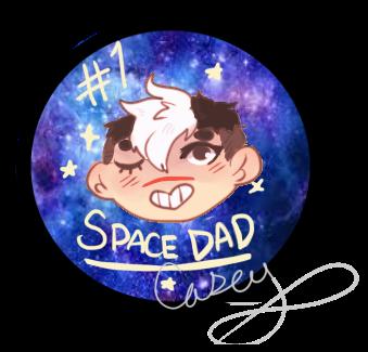 Space Dad Button Design by gh0stbun