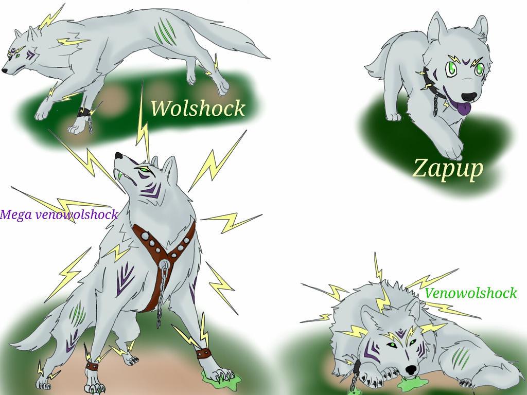 fan made pokemon. my fan made wolf pokemon by trickster-redcrow