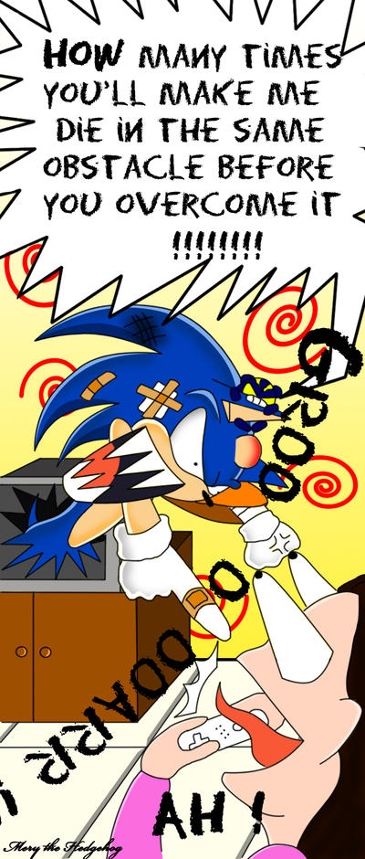 Sonic Angry With Mery The Hedgehog