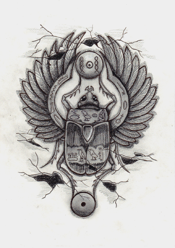 scarab tattoo by frufru punk on deviantart