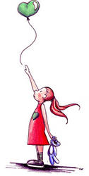 girl and a ballon by crischinchila