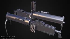 Browning M1917 Highpoly