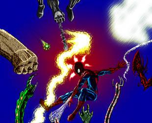 Spiderman Swing time by chaoslanternxXx