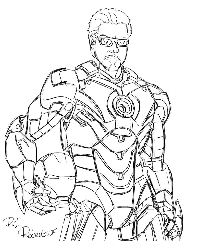 Ironman unmasked by chaoslanternxxx on deviantart for Ironman coloring page