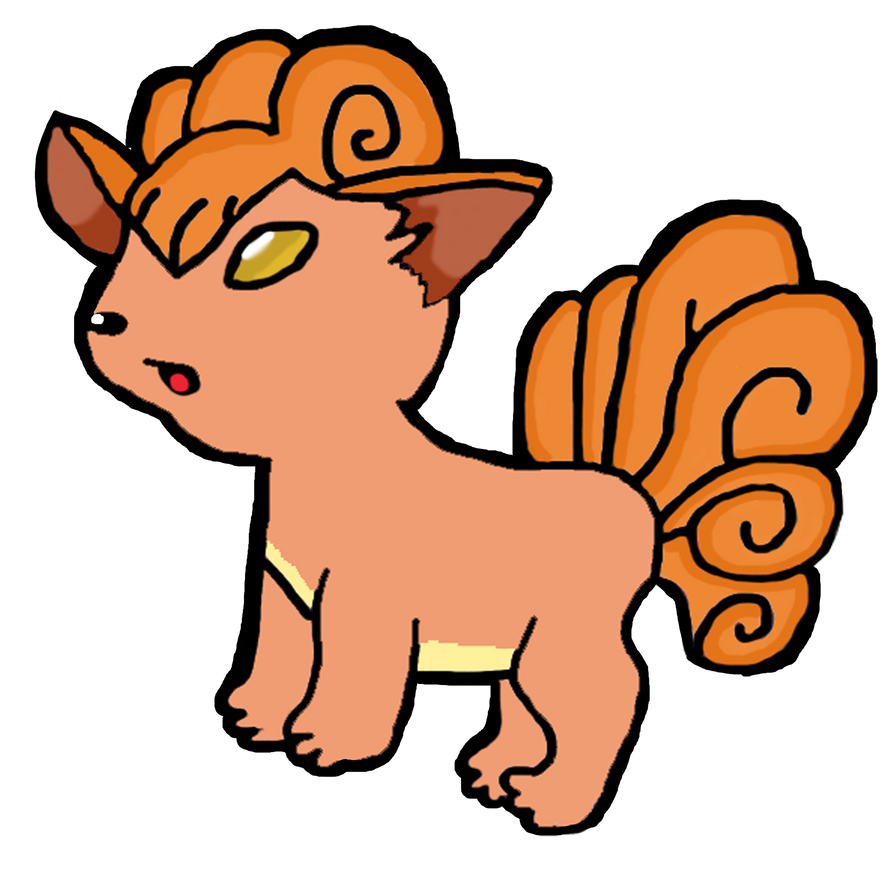 how to draw a vulpix