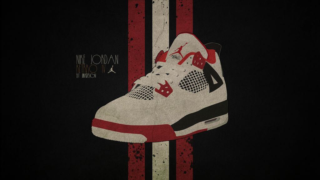 the latest 31ea4 2674e Nike Jordan Retro 4 Wallpaper HD by JunkDesign ...