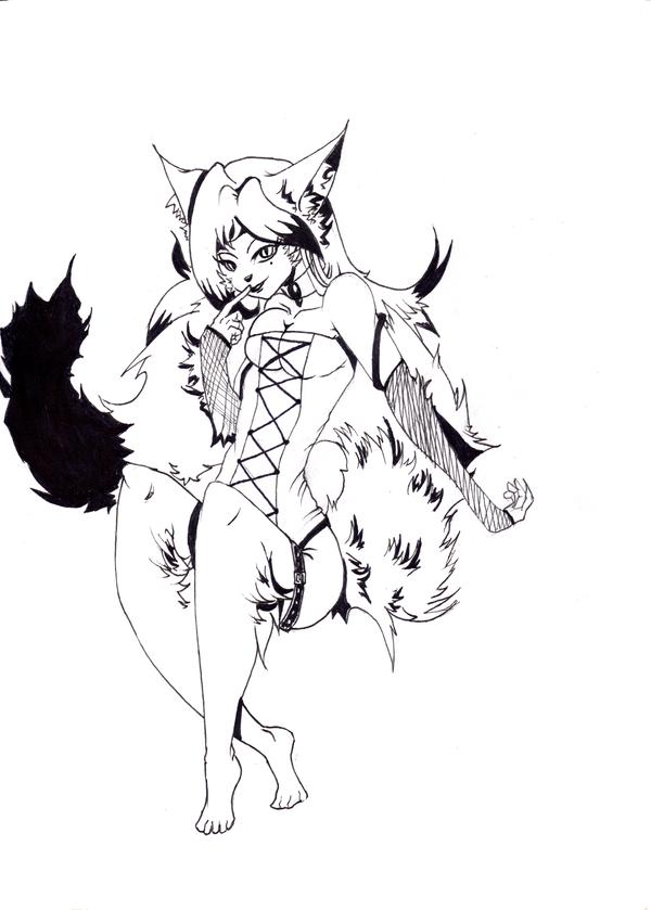 Art trade - Ebony by Kittywolfz