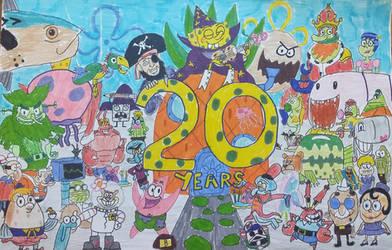SpongeBob SquarePants 20 years by darthlord1997