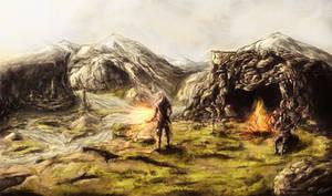 Geralt and Jaskier