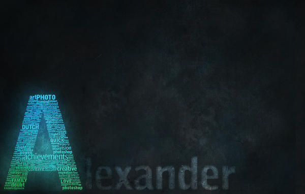 Alexander - typography by Moombax