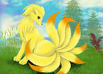 A Ninetales in a beautiful day