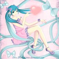 Miku Hatsune :3 by melloskitten