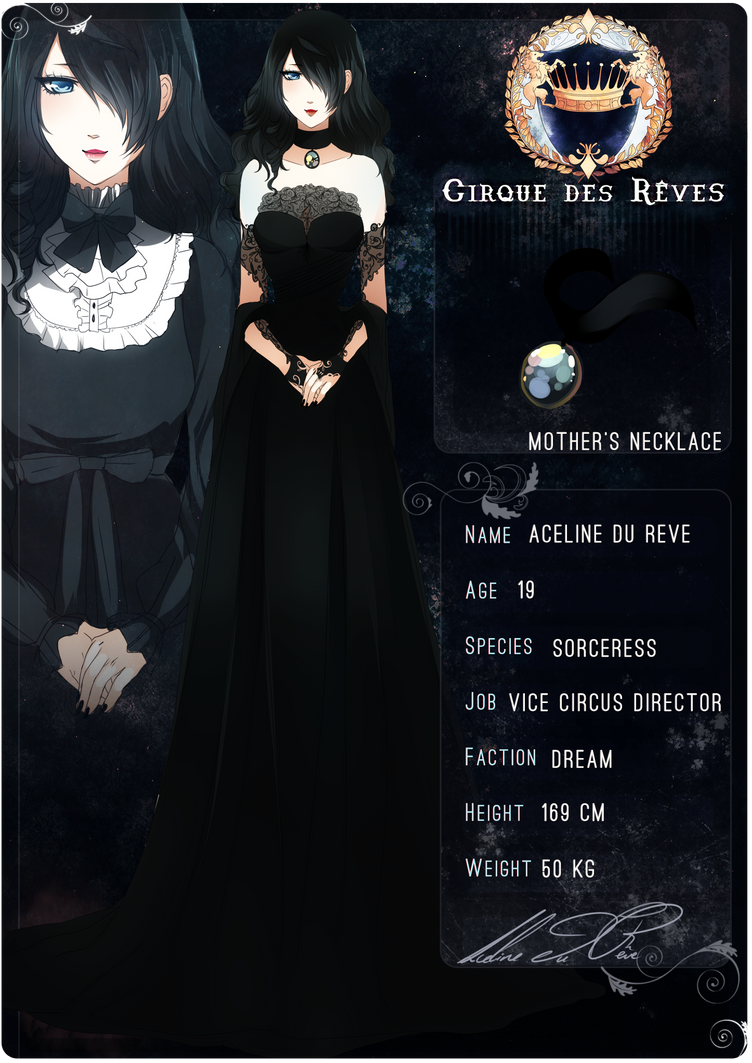 .: Cirque des Reves : Aceline du Reve :. by melloskitten