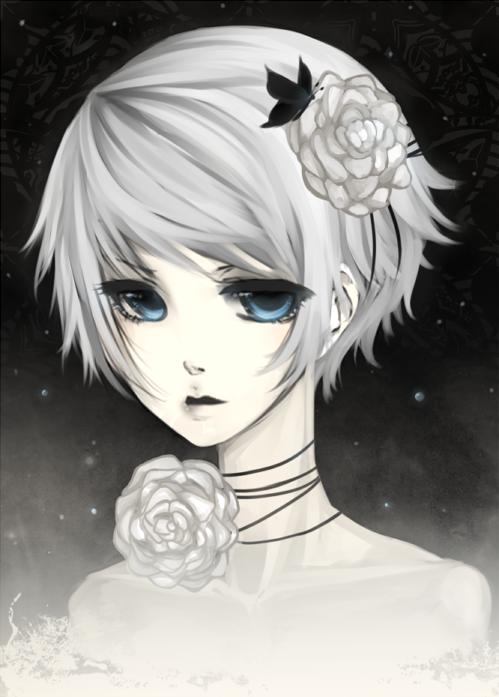 .: CdR : White Rose :. by melloskitten