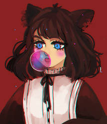 bubblegum cat girl