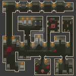 [RPG Maker Map] Catacombs - first chamber by Veresik
