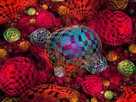 Rainbow Checkerballs by tiffrmc720