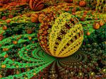 Reptilian Fractal Egg by tiffrmc720