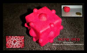 Bone Dice 3D Fractal Print by tiffrmc720