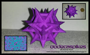 Dodecaspikes 3D Fractal Print by tiffrmc720