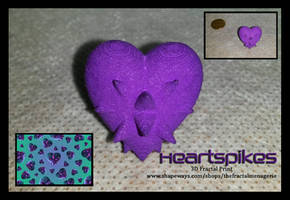 Heartspikes 3D Fractal Print by tiffrmc720