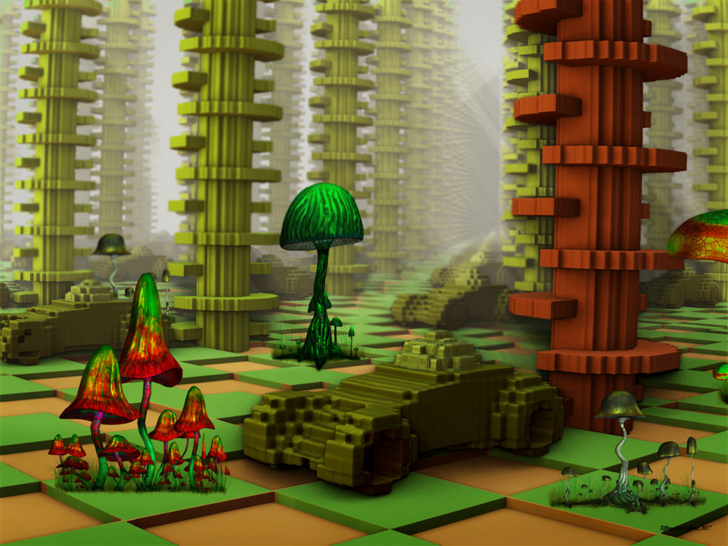 Fractal Brick Forest