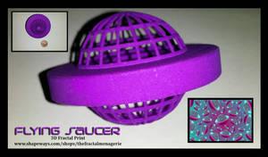 Flying Saucer 3D Fractal Print by tiffrmc720