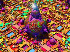 Purple Greeble Eater by tiffrmc720
