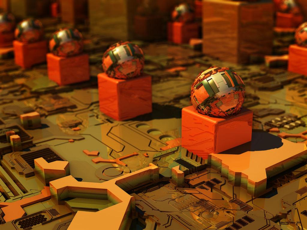Circuit Board Spheres by tiffrmc720