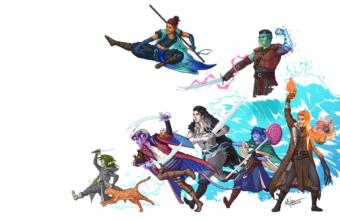 Mighty Nein, Assemble! by Lunapocalypse on DeviantArt