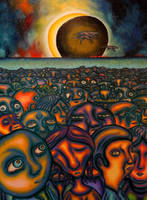 The rising of the eclipse by marcelflisiuk